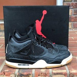 Air Jordan Retro 4 Laser Black Gum Size 9